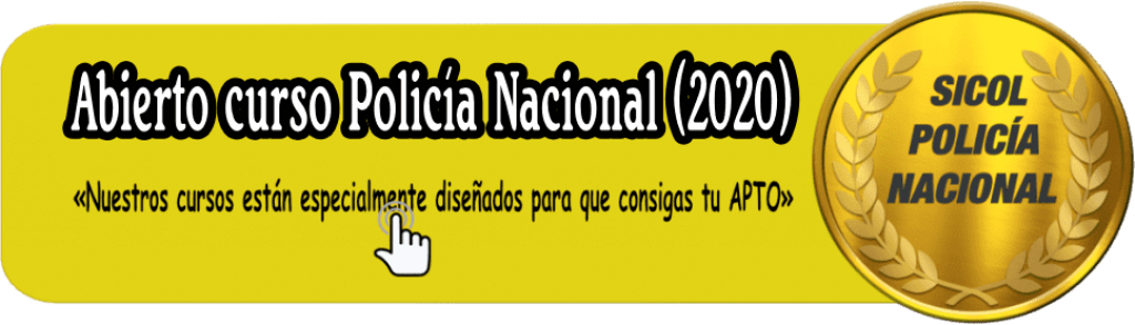 Curso Policía Nacional 2020