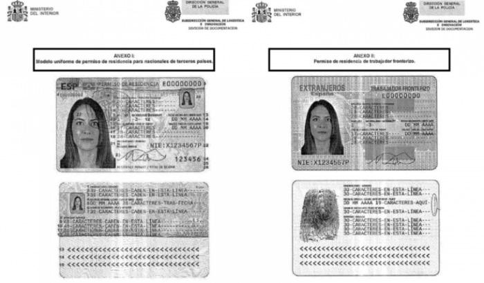 Nuevas - Tarjetas de Identidad de Extranjeros (TIE) en base al Reglamento de (UE) 2017/1954